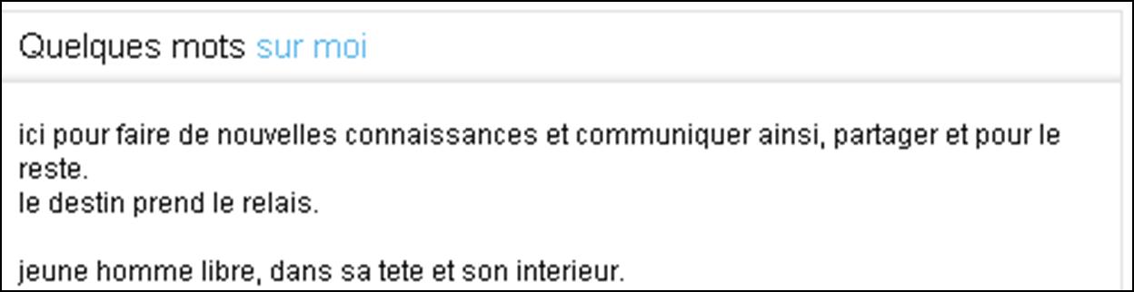 description profil homme site de rencontre rencontre femme riche canada