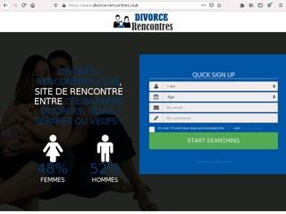 S'inscrire sur un site de rencontre pendant une procédure de divorce