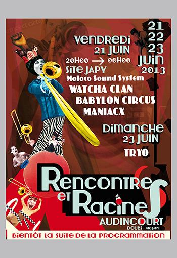 Doubs - Concert - RENCONTRES & RACINES - PASS 3 JOURS - Agenda AUDINCOURT