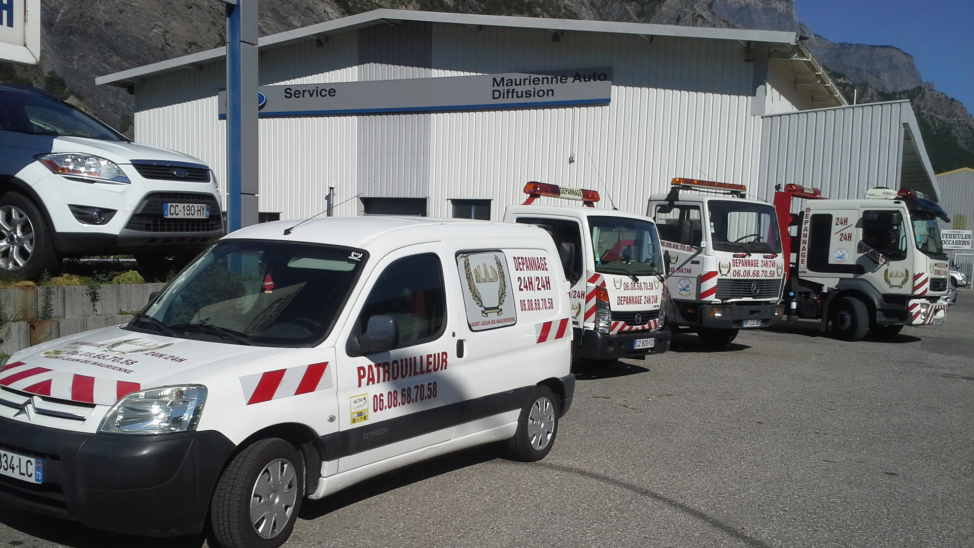 Rencontre est/ouest de chauffeurs routiers sur l'A43, en Savoie