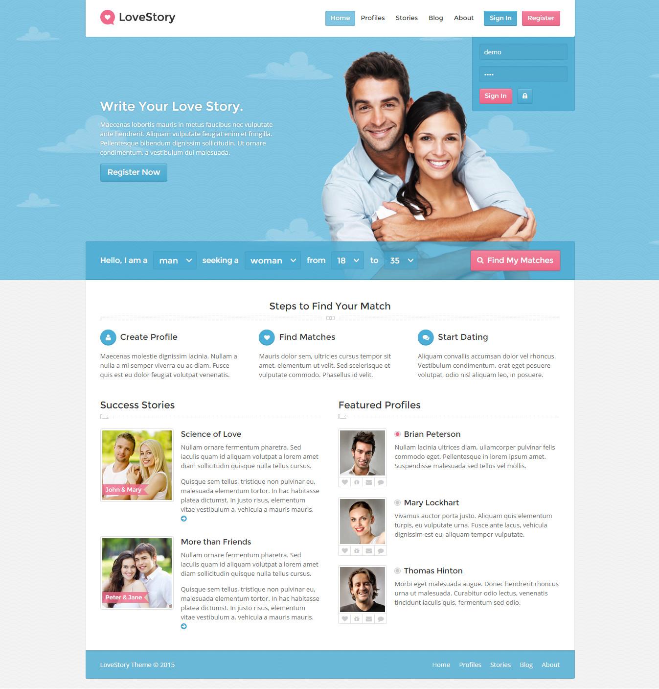 template site de rencontre gratuit