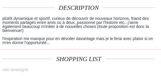 petite annonce pour un site de rencontre - Paroles d'hommes - FORUM aacs-asso.fr