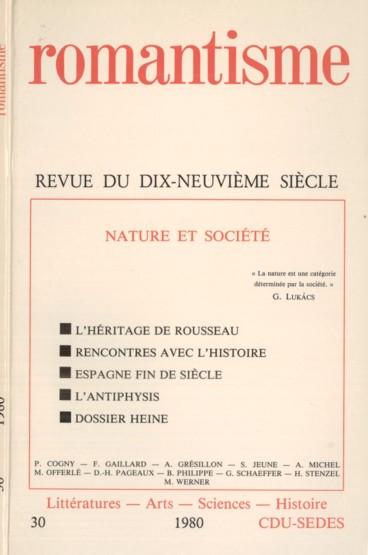 L'Homme et la Nature : Le Romantisme