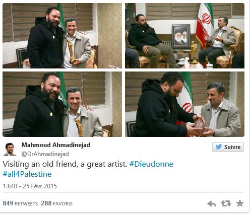 dieudonné rencontre avec mahmoud ahmadinejad
