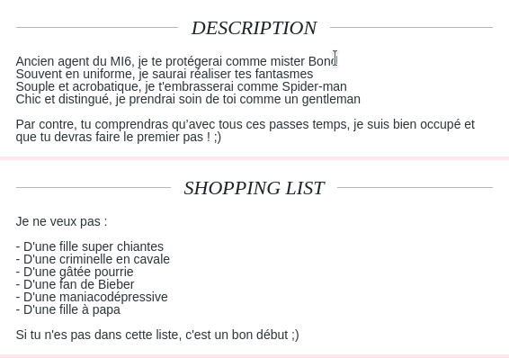 description type site de rencontre