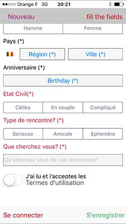 Application mobile de rencontres suissesse pour Android, iPad et iPhone Apple iOs - tchat Suisse