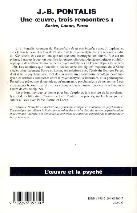 Fenêtres de J.-B. de Pontalis | Valérie Touzé